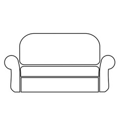 Sofa the black color icon vector