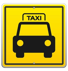 Taxi Sign in New York vector image vector image