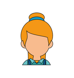 Woman faceless head vector