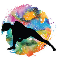 Women silhouette fully bound side angle yoga pose vector