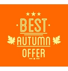 Autumn sale logotypet special offer badge vector