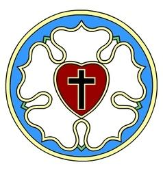 Lutheran rose emblem vector