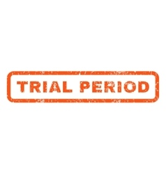 Trial period rubber stamp vector