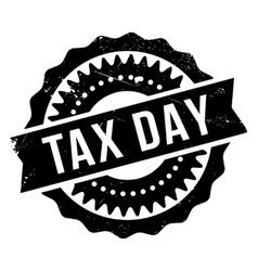 Tax day stamp vector