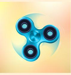 hand fidget spinner toy vector image