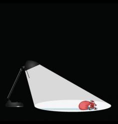 lamp santa vector image