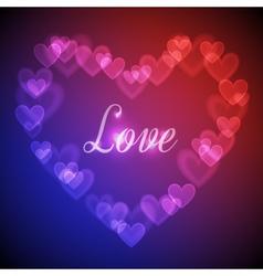 Hearts bokeh background vector