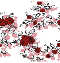floral seamless rose shadow vector image