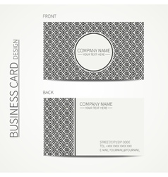 Vintage simple geometric monochrome business card vector
