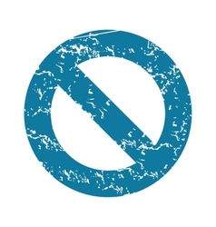 Grunge no sign icon vector