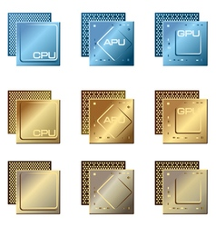 Different types of processors vector