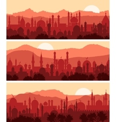 Muslim cityscapes vector