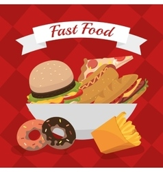 Fas food restaurant design vector