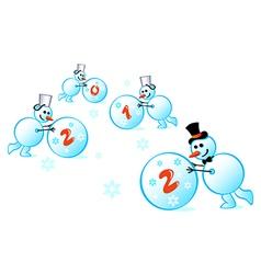 snowmen 2012 vector image