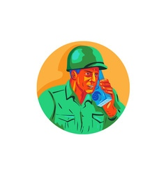 World war two soldier american talk radio wpa vector