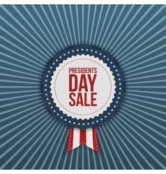 Presidents day sale usa label with ribbon vector