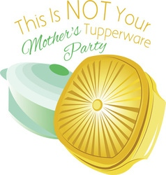 Tupperware party vector