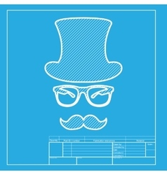 Hipster accessories design white section of icon vector
