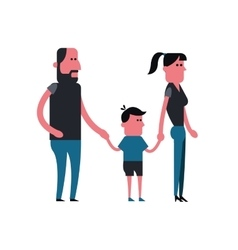 Man woman and kid cartoon people design vector