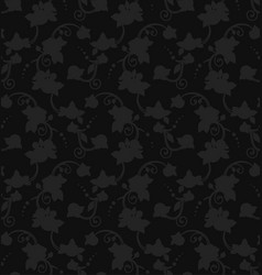 Black floral silhouette seamless pattern ready to vector