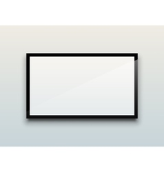 Blank tv screen vector image