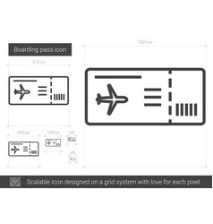 boarding pass line icon vector image