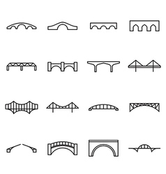 Bridge icons vector image