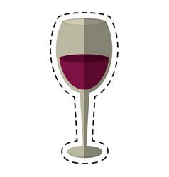 cartoon glass cup wine drink vector image