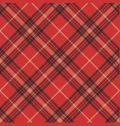 Check red tartan seamless pattern vector