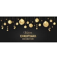 Christmas background with glitter decoration vector