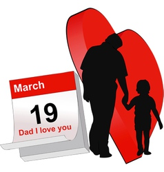 Dad today is your feast vector