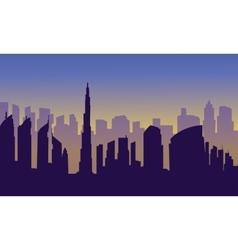 Dubai of silhouette vector image