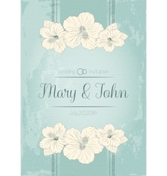 Elegant wedding invitation design Greeting Card vector image vector image