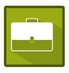 Emblem bag case icon vector