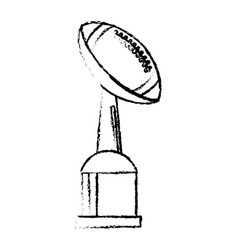 football award cup sport win vector image vector image
