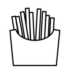 french fries line icon vector image vector image