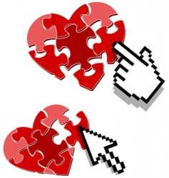 heart puzzle concept vector image vector image
