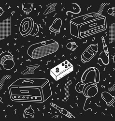 hipster seamless pattern memphis background vector image