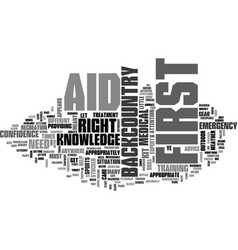 Is first aid different in the backcountry text vector