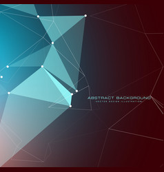 Low poly abstract background with light effects vector