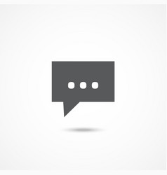 message icon on white vector image