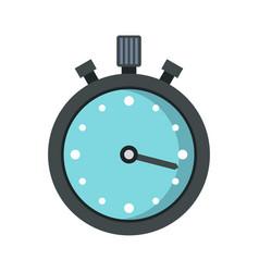 metallic stopwatch icon flat style vector image
