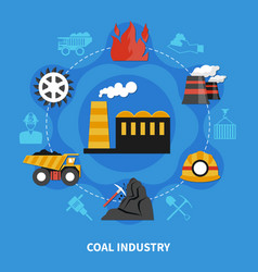 mining industry concept vector image