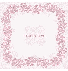Ornate rose card vector image