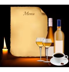 restaurant menu design vector vector image vector image