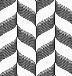 Ribbons in chevron pattern vector image vector image