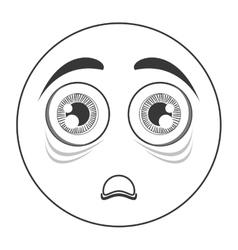 scared face emoticon icon vector image vector image