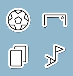 soccer line icon set vector image