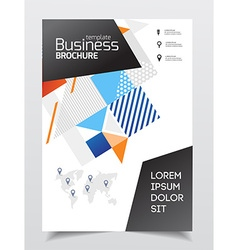 Startup presentation layout or business flyer vector image vector image