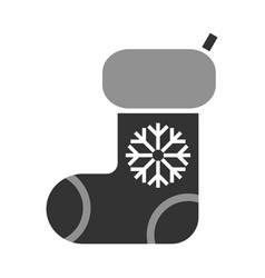 Stocking christmas symbol black flat icon vector
